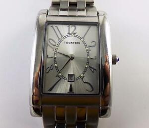 【送料無料】腕時計 スイスステンレススチールtourneau cineregy rectangular swiss stainless steel date time watch qyd9