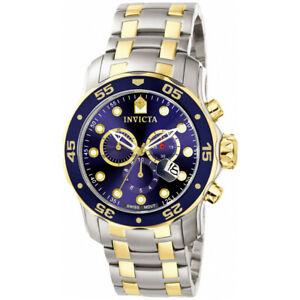 【送料無料】腕時計 プロダイバーステンレススチールクロノグラフウォッチinvicta pro diver 0077 stainless steel chronograph watch