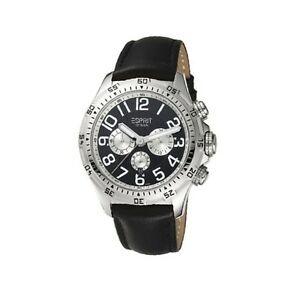 【送料無料】腕時計 ブランドエスプリメンズハイレベルブラッククロノグラフウォッチ