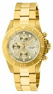 【送料無料】腕時計 メンズプロダイバークロノグラフステンレススチール1774 invicta mens pro diver chronograph gold plated stainless steel watch