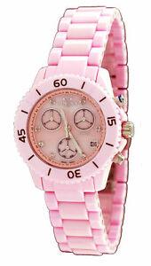【送料無料】腕時計 スイスカジュアルピンクセラミッククロノグラフウォッチoniss on8206l womens swiss movemen casual pink ceramic chronograph watch
