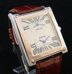 【送料無料】腕時計 ジュエルデュアルタイムゾーンステンレススチール17 jewel dual time zone stainless steel wind up wristwatch