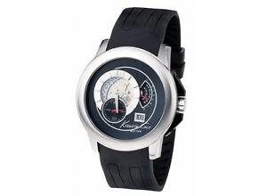 【送料無料】腕時計 ケネスブラックシリコンストラップメンズウォッチ