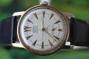 【送料無料】腕時計 ドイツgreat german goldplated umf ruhla watch 15 jewels