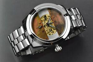 【送料無料】腕時計 アラゴンホライゾンスケルトンaragon a124brn horizon 50 skeleton automatic