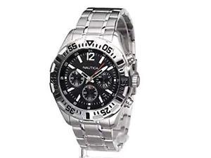 【送料無料】腕時計 メンズクロノグラフスチールウォッチmens nautica nst 402 chronograph steel watch n19628g