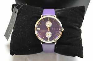 【送料無料】腕時計 ドルテッドベーカーロンドンパープルラウンドウォッチ 195 ted baker london purple round watch gold plated pvd 10024714