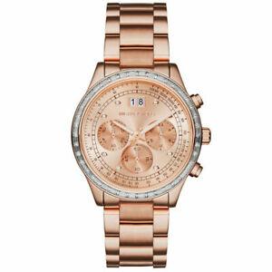 【送料無料】腕時計 ミハエルローズゴールドトーンスチールクロノグラフウォッチnib michael kors mk6204 brinkley rose gold tone st steel chronograph watch