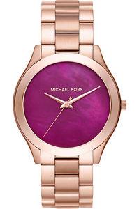 【送料無料】腕時計 ミハエルスリムハンドウォッチローズゴールドトーンauthentic michael kors mk3550 slim runway rose goldtone threehand watch