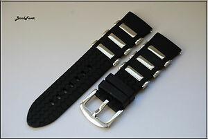 【送料無料】腕時計 イタリアゴムストラップダイバーラグソリッドステンレスラグ