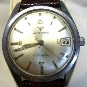 【送料無料】腕時計 ウィットハイステンレスエンドwittnauer automatic high end stainless steel watch just serviced and cleaned
