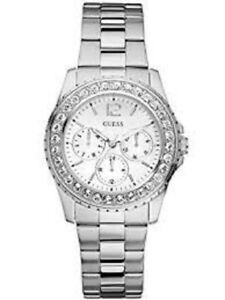 【送料無料】腕時計 シルバートーンステンレススチールブレスレット authentic guess u11052l1 womens silver tone stainless steel bracelet watch