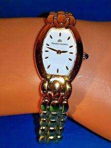 【送料無料】腕時計 モーリスロアレディースゴールドトーンバッテリーladies maurice lacroix gold tone watch ouartz working battery se4012