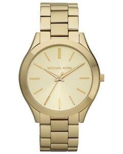 【送料無料】腕時計 ミハエルスリムゴールドトーンステンレススチールウォッチmichael kors slim runway goldtone stainless steel watch