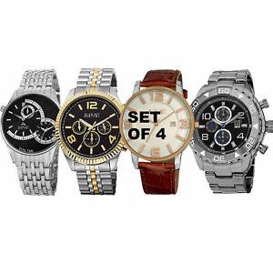 【送料無料】腕時計 シュタイナーメンズクラシックウォッチset of 4 mens august steiner multifunction and classic watches