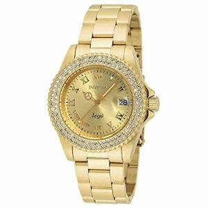 【送料無料】腕時計 レディースエンジェルクォーツゴールドトーンステンレススチールカジュアルウォッチinvicta womens angel quartz goldtonestainlesssteel casual watch,