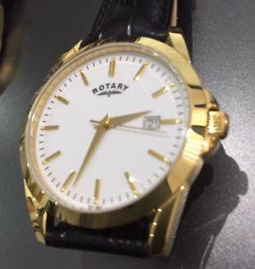 【送料無料】腕時計 ロータリースリムドレスゴールドブラックホワイトウォッチクラシック