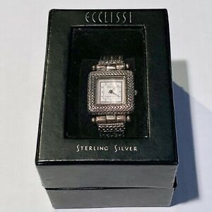 【送料無料】腕時計 ビンテージスターリングシルバーウォッチケースvintage ecclissi sterling silver watch w case nice