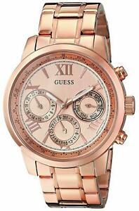 【送料無料】腕時計 ローズゴールドトーンステンレススチールブレスレットguess womens rose goldtone stainless steel bracelet watch 42mm u0330l2