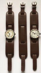 【送料無料】腕時計 ワイヤーラグウォッチストラップダークタンwire lug military trench icers ww1 watch strap dark tan