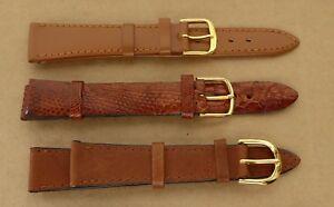 【送料無料】腕時計 トラップbrown leather watchstraps, 16 and 18 mm