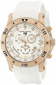 【送料無料】腕時計 スイスゴールドケースホワイトラバーストラップクロノグラフウォッチローズswiss legend 10164rg02wht rose gold case white rubber strap chronograph watch