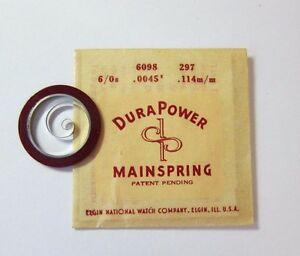 【送料無料】腕時計 デュラメインスプリングフィットウォッチnos genuine 297 elgin watch part 6098 durapower mainspring fits 60s