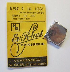 【送料無料】腕時計 ビンテージnos vintage mainspring for venus 170 watch part