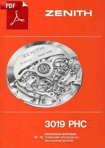 【送料無料】腕時計 ゼニスエルページtechnische informationen cal zenith 3019 phc el primero 54 pages