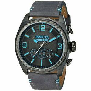 【送料無料】腕時計 クロノグラフウォッチinvicta aviator 22987 leather chronograph watch
