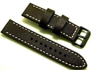 【送料無料】腕時計 ストラップコントラストラグサイズステッチブラックバックル