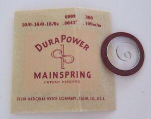 【送料無料】腕時計 デュラメインフィットnos genuine elgin part 6099 durapower mainspring fits 100160180s 715j
