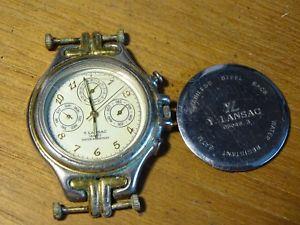 【送料無料】腕時計 ancienne montre y lansac quartz miyota 6po5 water resistant