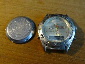 【送料無料】腕時計 ビンテージクオーツアラームクロノvintage montre quartz alarm chrono plonge 30m