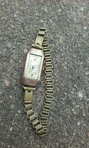 【送料無料】腕時計 ブレスレットプラークancienne montre bracelet femme plaqu or grav 14 janvier 1933 pse n 34c21