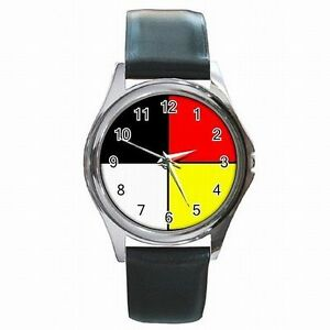 【楽天最安値に挑戦】 【送料無料 leather】腕時計 クリーホイールフープcree medicine wheel four wheel directions sacred hoop sacred leather watch, IKOI TIME:3de6c13b --- enduro.pl