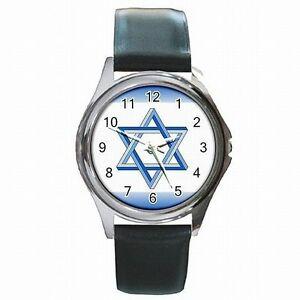 【送料無料】腕時計 デビッドユダヤエルサレムアクセサリレザーウォッチスターstar of david jewish jerum accessory leather watch