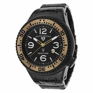 【送料無料】腕時計 スイスネプチューンブラックステンレススチール#ガ