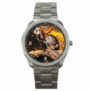 【送料無料】腕時計 フェレットフェレットペットアクセサリステンレススチールウォッチferret polecat pet owner ferrets accessory stainless steel watch