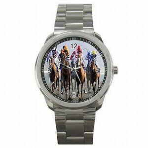 【送料無料】腕時計 ダービージョッキーレーストラックステンレススチールウォッチ