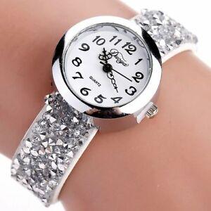 【送料無料】腕時計 ファッションクリスタルラインストーンブレスレットレディースクォーツduoya watches women fashion crystal rhinestone bracelet watch ladies quartz
