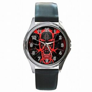 【送料無料】腕時計 アクセサリskull tribal blood emo accessory leather watch