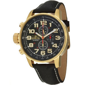 【送料無料】腕時計 レザークロノグラフウォッチinvicta iforce 3330 leather chronograph watch