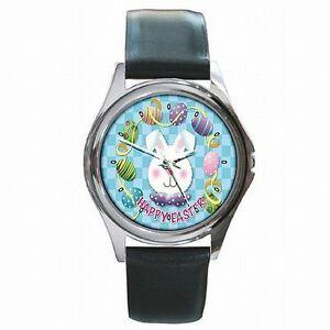 【送料無料】腕時計 ハッピーイースターバニーウサギホリデーアクセサリhappy easter bunny rabbit holiday accessory leather watch