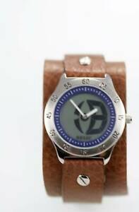【送料無料】腕時計 メンズレザーステンレススチールクォーツバッテリーウォッチrelic mens leather stainless steel water resistant quartz battery watch
