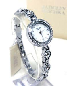 【送料無料】腕時計 シルバートーンクリスタルウォッチ badgley mischka ba1397mpsv womens silvertone crystal watch