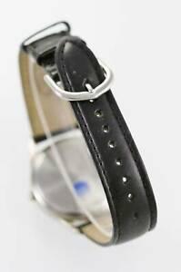 腕時計 デイルアーンハートメンズステンレススチールウォッチシルバーゴールドブラックレザークォーツ