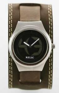 【送料無料】腕時計 ビッグステンレスブラウンブラッククォーツレジスト