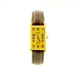 【送料無料】腕時計 ビンテージブレスレットマロンドーレmontre vintage omax bracelet cuir marron botier dor mymontre