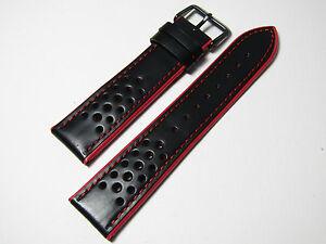 【送料無料】腕時計 ローマメンズハイパフォーマンスレザースポーツストラップ18mmhadley roma mens high performance  leather sport strap ms755 red